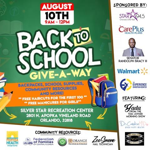 Back to School Give-A-Way - Orlando, August 10 - Crime Free Kids